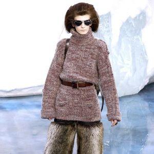 Chanel 2010 runway alpaca sweater tunic 34 small